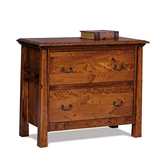 Amish USA Made Handcrafted Artesa 2-Drawer Lateral File Cabinet sold by Online Amish Furniture LLC