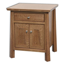 Load image into Gallery viewer, Amish USA Made Handcrafted Vancoover 1-Drawer 2-Door Nightstand sold by Online Amish Furniture LLC