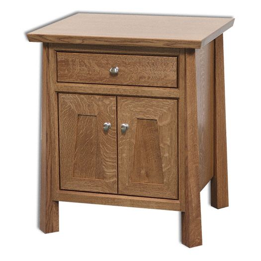 Amish USA Made Handcrafted Vancoover 1-Drawer 2-Door Nightstand sold by Online Amish Furniture LLC