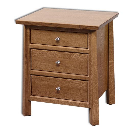 Amish USA Made Handcrafted Vancoover 3-Drawer Nightstand sold by Online Amish Furniture LLC