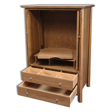 Load image into Gallery viewer, Amish USA Made Handcrafted Vancoover Entertainment Center sold by Online Amish Furniture LLC