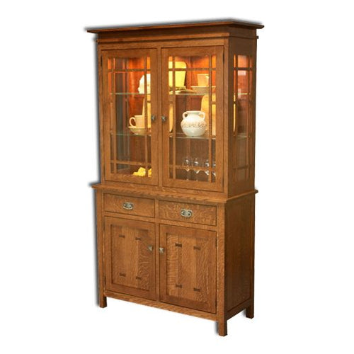 Amish USA Made Handcrafted Gettysburg Hutch sold by Online Amish Furniture LLC