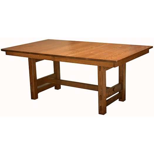 Amish USA Made Handcrafted Glenwood Trestle Table sold by Online Amish Furniture LLC
