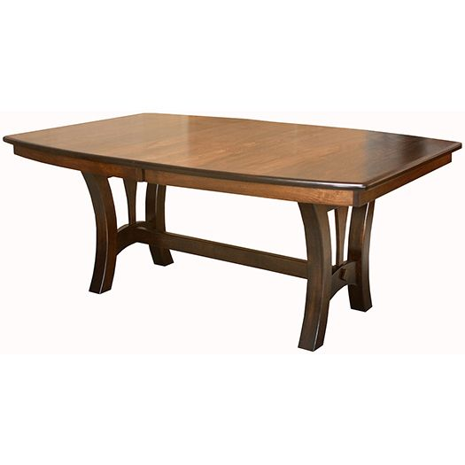 Amish USA Made Handcrafted Grand Island Trestle Table sold by Online Amish Furniture LLC