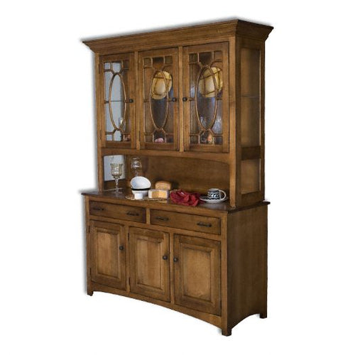 Amish USA Made Handcrafted Hackenburg Hutch sold by Online Amish Furniture LLC