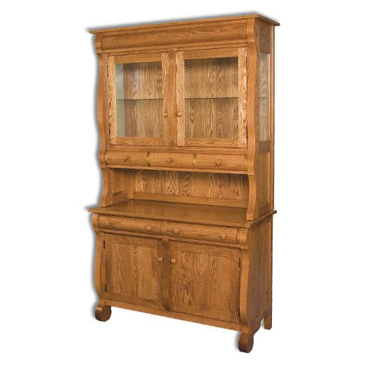 Amish USA Made Handcrafted Hampton Hutch sold by Online Amish Furniture LLC