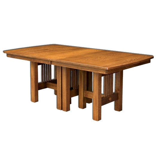 Amish USA Made Handcrafted Hartford Trestle Table sold by Online Amish Furniture LLC