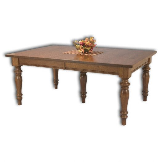 Amish USA Made Handcrafted Harvest Leg Table sold by Online Amish Furniture LLC