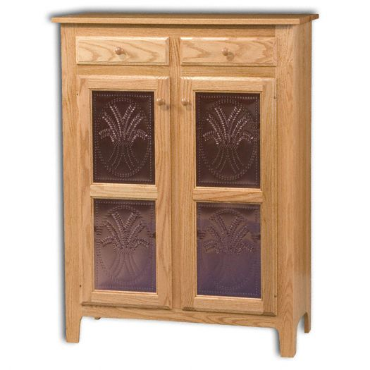 Amish USA Made Handcrafted Classic 2 Door 2 Drawer Pie Safe Jelly Cupboard sold by Online Amish Furniture LLC