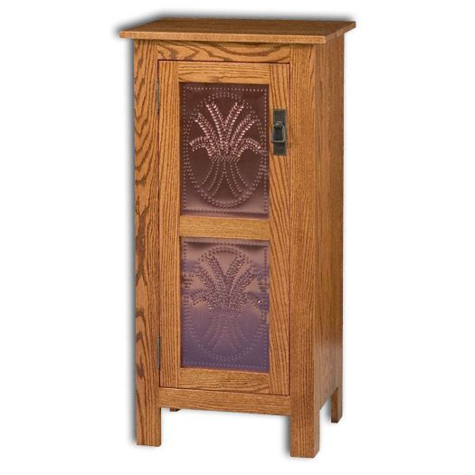 Amish USA Made Handcrafted Mission 1 Door Pie Safe Cupboard sold by Online Amish Furniture LLC