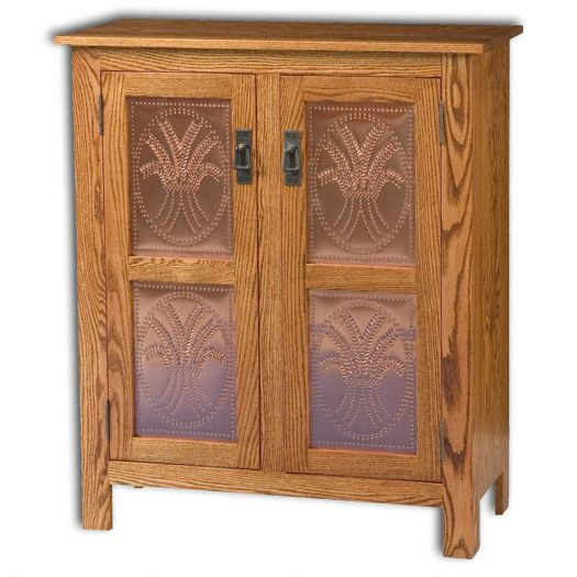 Amish USA Made Handcrafted Mission 2 Door Pie Safe Cupboard sold by Online Amish Furniture LLC