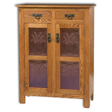 Load image into Gallery viewer, Amish USA Made Handcrafted Mission 2 Door 2 Drawer Pie Safe Cupboard sold by Online Amish Furniture LLC