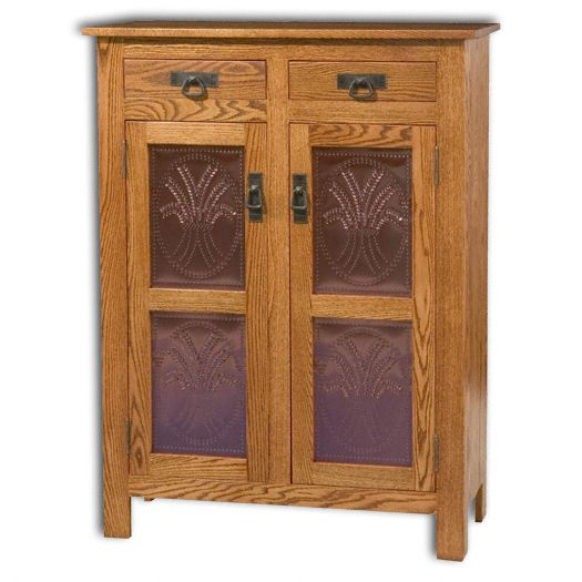 Amish USA Made Handcrafted Mission 2 Door 2 Drawer Pie Safe Cupboard sold by Online Amish Furniture LLC