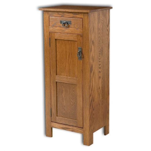 Amish USA Made Handcrafted Mission 1 Door 1 Drawer Pie Safe Cupboard sold by Online Amish Furniture LLC