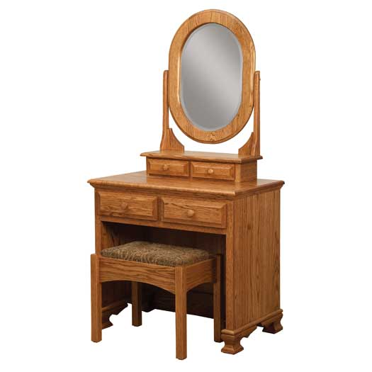 Amish USA Made Handcrafted Heritage Dressing Table with Bench sold by Online Amish Furniture LLC