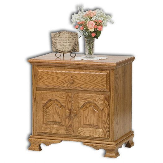 Amish USA Made Handcrafted Heritage 2-Door, 1-Drawer Nightstand sold by Online Amish Furniture LLC