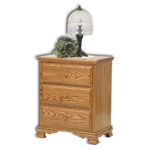 Amish USA Made Handcrafted Heritage 3-Deep Drawer Nightstand sold by Online Amish Furniture LLC