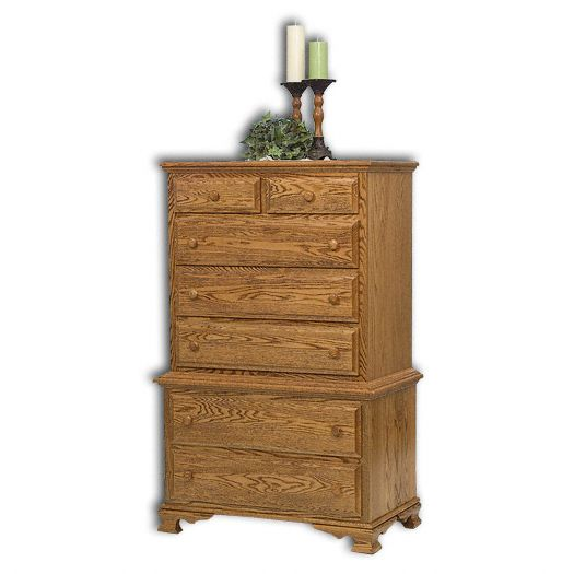 Amish USA Made Handcrafted Heritage Chest on Chest sold by Online Amish Furniture LLC