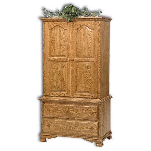 Amish USA Made Handcrafted Heritage Chest on Chest 2pc. Armoire sold by Online Amish Furniture LLC