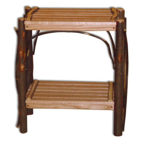 Amish USA Made Handcrafted Rustic Hickory End Tables sold by Online Amish Furniture LLC