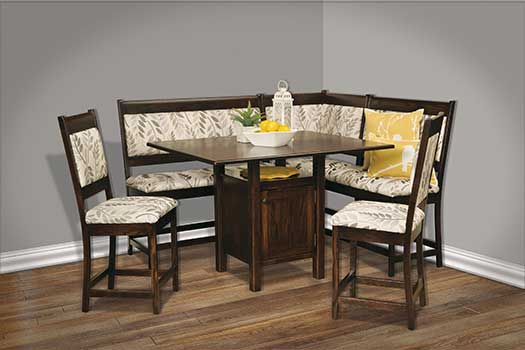 Amish USA Made Handcrafted Amish High Country Nook Set sold by Online Amish Furniture LLC