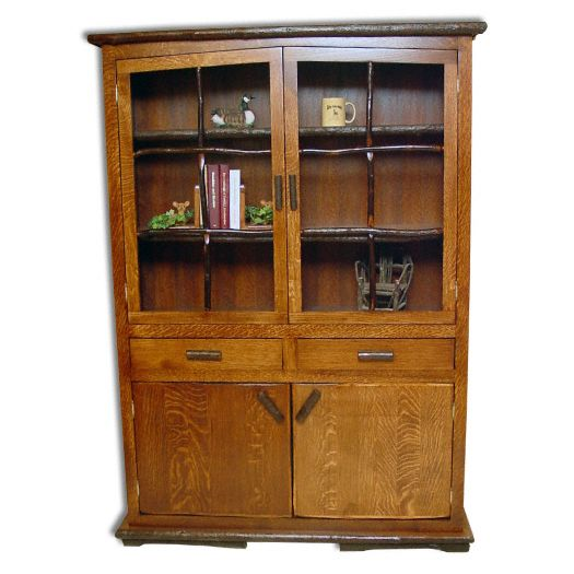Amish USA Made Handcrafted Rustic Hickory Hilltop Hutch sold by Online Amish Furniture LLC