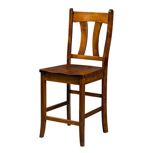 Amish USA Made Handcrafted Imperial Bar Stool sold by Online Amish Furniture LLC