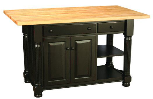 Amish USA Made Handcrafted IS_69 Kitchen Island sold by Online Amish Furniture LLC
