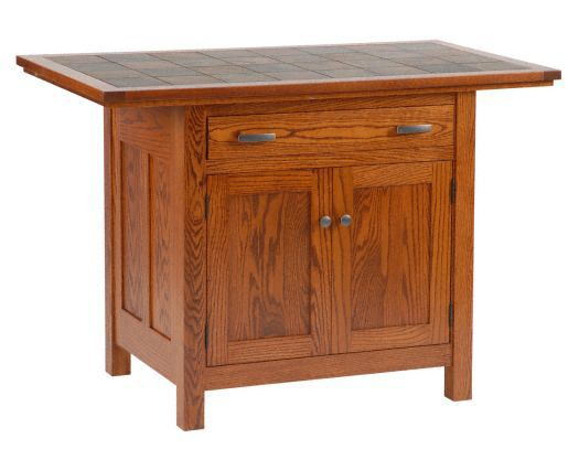 Amish USA Made Handcrafted IS_803 Brookline Mission Kitchen Island sold by Online Amish Furniture LLC