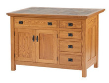 Load image into Gallery viewer, Amish USA Made Handcrafted IS_806 Brookline Mission Kitchen Island sold by Online Amish Furniture LLC