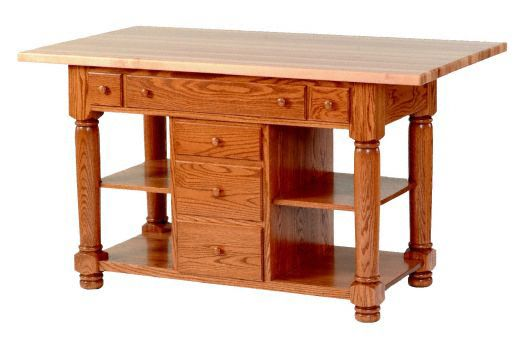 Amish USA Made Handcrafted IS_94 Kitchen Island sold by Online Amish Furniture LLC