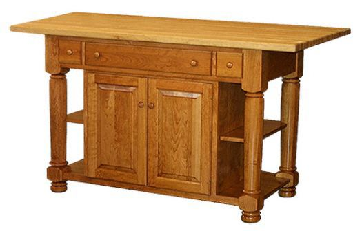 Amish USA Made Handcrafted IS_96 Kitchen Island sold by Online Amish Furniture LLC