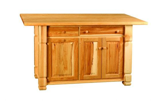 Amish USA Made Handcrafted IS_98 Kitchen Island sold by Online Amish Furniture LLC
