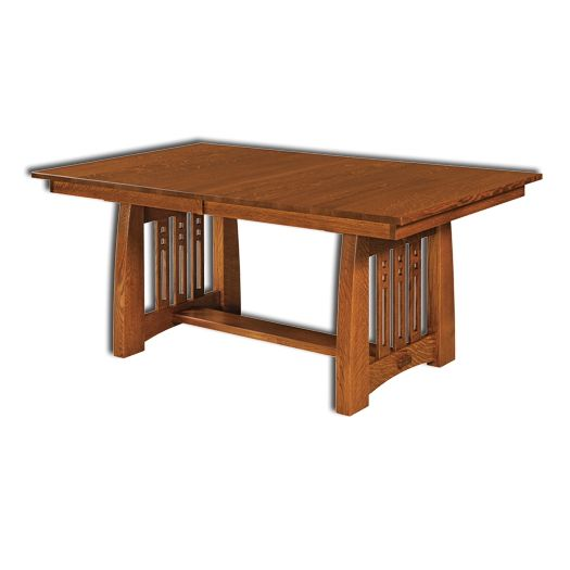 Amish USA Made Handcrafted Jamestown Trestle Table sold by Online Amish Furniture LLC
