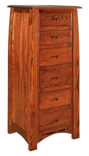 Amish USA Made Handcrafted Boulder Creek Lingerie Chest sold by Online Amish Furniture LLC