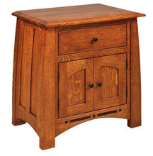 Load image into Gallery viewer, Amish USA Made Handcrafted Boulder Creek Nightstands With Doors sold by Online Amish Furniture LLC