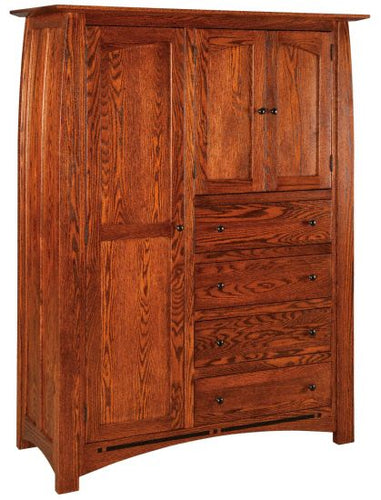 Amish USA Made Handcrafted Boulder Creek Chifferobe sold by Online Amish Furniture LLC