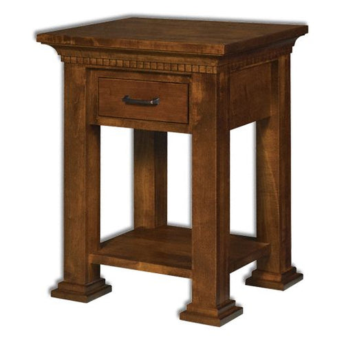 Amish USA Made Handcrafted Empire Open Nightstand sold by Online Amish Furniture LLC