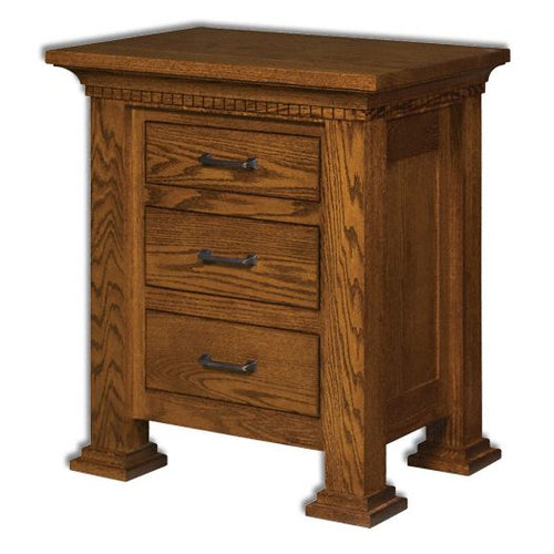 Amish USA Made Handcrafted Empire 3-Drawer Nightstand sold by Online Amish Furniture LLC