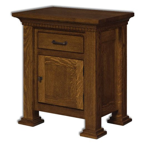 Amish USA Made Handcrafted Empire 1-Drawer 1-Door Nightstand sold by Online Amish Furniture LLC