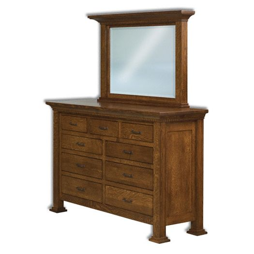 Amish USA Made Handcrafted Empire 9-Drawer Dresser sold by Online Amish Furniture LLC