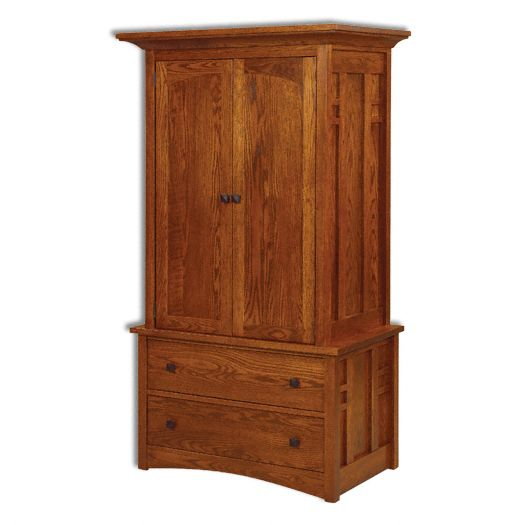 Amish USA Made Handcrafted Kascade Armoire sold by Online Amish Furniture LLC