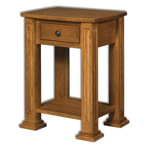 Amish USA Made Handcrafted Lexington 1-Drawer Open Nightstand sold by Online Amish Furniture LLC