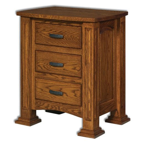 Amish USA Made Handcrafted Lexington 3-Drawer Nightstand sold by Online Amish Furniture LLC