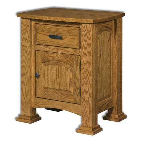 Amish USA Made Handcrafted Lexington 1-Drawer 1-Door Nightstand sold by Online Amish Furniture LLC