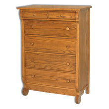 Load image into Gallery viewer, Amish USA Made Handcrafted Old Classic Sleigh 6 Drawer Chest sold by Online Amish Furniture LLC