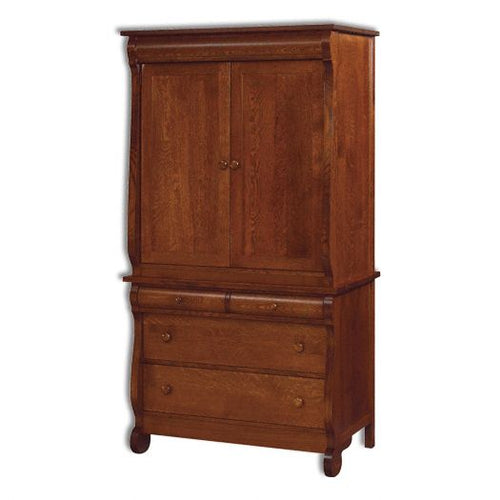Amish USA Made Handcrafted Old Classic Sleigh 2Pc. Armoire sold by Online Amish Furniture LLC
