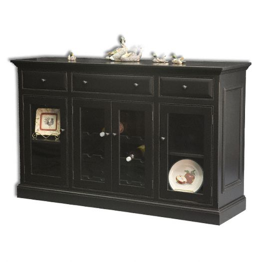 Amish USA Made Handcrafted Julie Wine Cabinet sold by Online Amish Furniture LLC