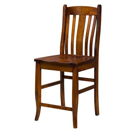 Amish USA Made Handcrafted Kensington Bar Stool sold by Online Amish Furniture LLC