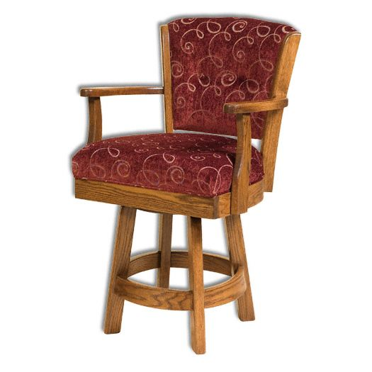 Amish USA Made Handcrafted Lansfield Bar Stool sold by Online Amish Furniture LLC